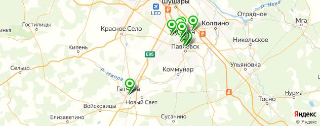 рестораны с детской комнатой на карте Пушкина