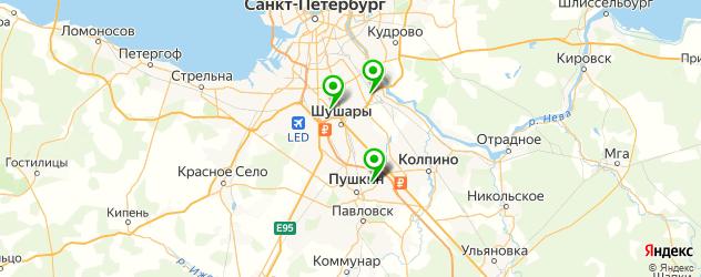 парковки на карте Пушкина