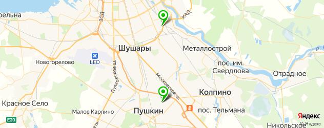 мотосалоны на карте Пушкина