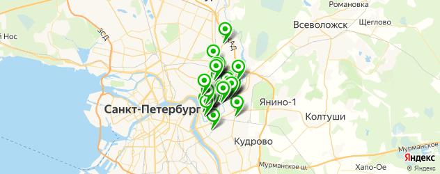 шины на карте Красногвардейского района