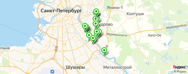 аппаратный маникюр на карте Невского района