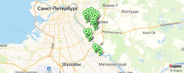 парикмахерские на карте Невского района