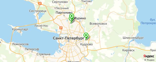 Аренда Инфинити на карте Санкт-Петербурга
