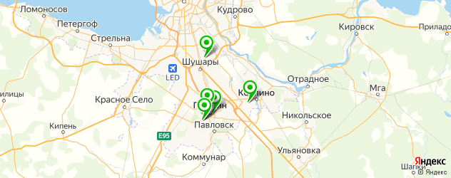 бары с живой музыкой на карте Пушкина
