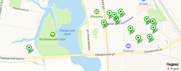 салоны красоты на карте поселка Тельмана