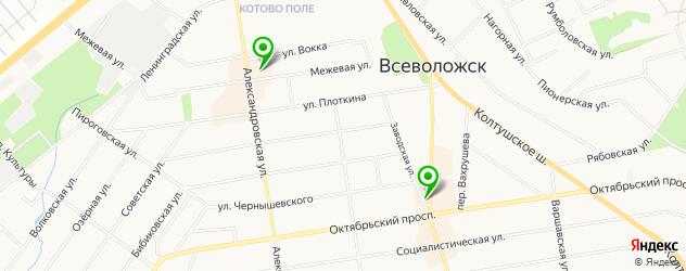 терминалы оплаты на карте Всеволожска
