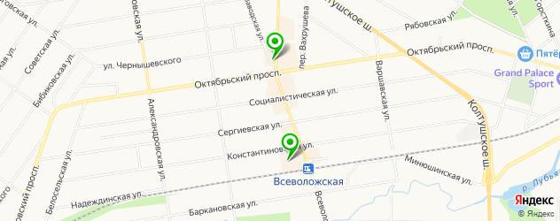 кулинарии на карте Всеволожска