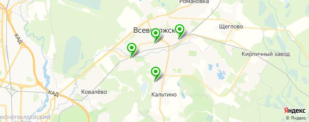 Доставка завтраков на карте Всеволожска