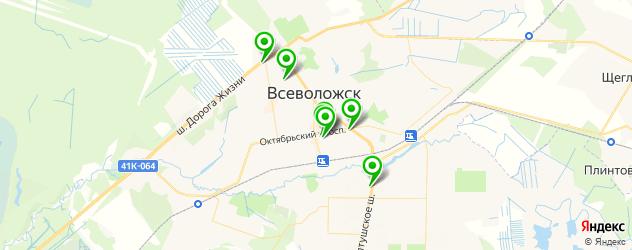 медицинские центры на карте Всеволожска
