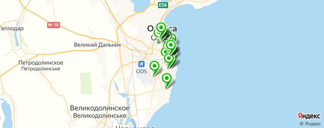 ВУЗы на карте Одес