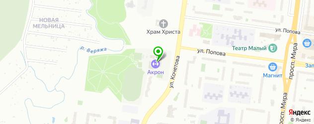 теннисные корты на карте Великого Новгорода
