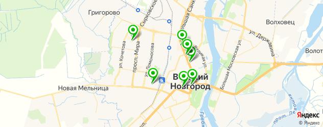 салоны бровей на карте Великого Новгорода