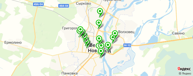 детская игровая комната на карте Великого Новгорода