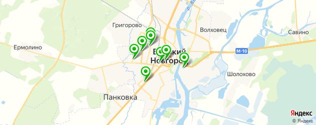 стоматологические поликлиники на карте Великого Новгорода