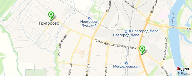 антикафе на карте Великого Новгорода