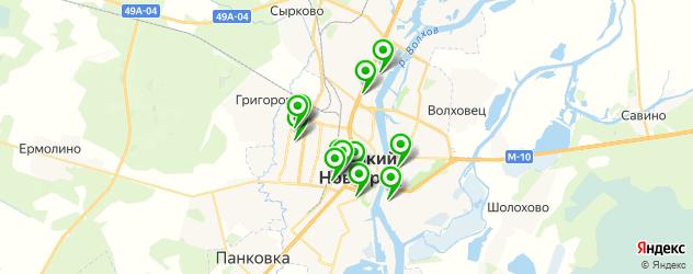 гимназии на карте Великого Новгорода