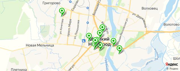 экскурсии на карте Великого Новгорода
