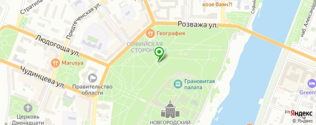 шахматные школы на карте Великого Новгорода