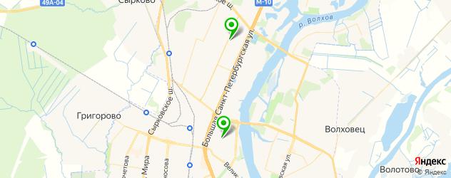 авторазборки на карте Великого Новгорода