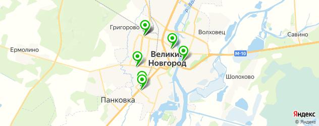 йога-центры на карте Великого Новгорода