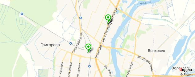 магазины автозвука на карте Великого Новгорода