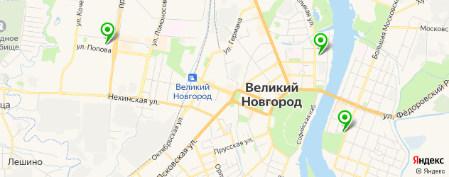 театры на карте Великого Новгорода