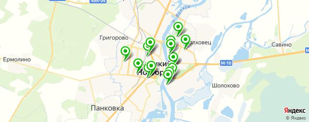университеты на карте Великого Новгорода