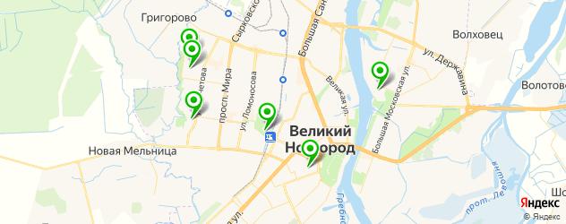 бассейны на карте Великого Новгорода