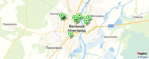 детские развлекательные центры на карте Великого Новгорода