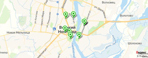 картинные галереи на карте Великого Новгорода