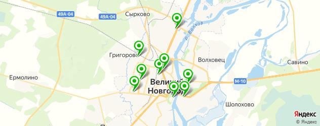 колледжи на карте Великого Новгорода