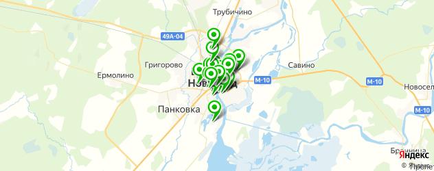 Еда на карте Великого Новгорода