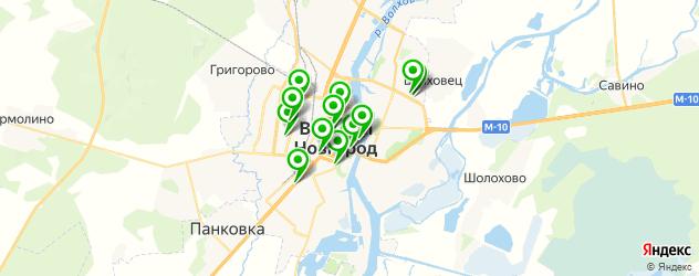 вегетарианские кафе на карте Великого Новгорода