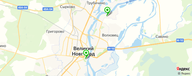 художественные школы на карте Великого Новгорода