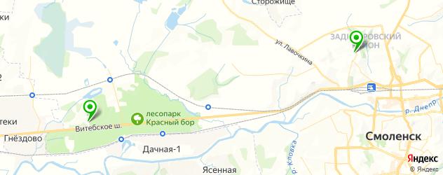 велнесы-клубы на карте Смоленска