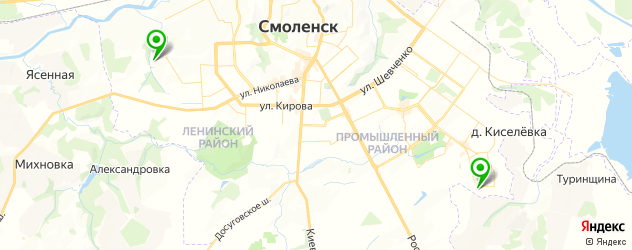 гаражи на карте Смоленска