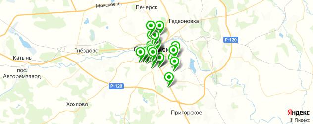 спорты-бары на карте Смоленска