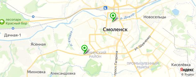 рестораны с детской комнатой на карте Смоленска