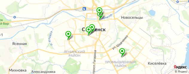 гимназии на карте Смоленска