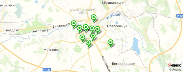йога-центры на карте Смоленска
