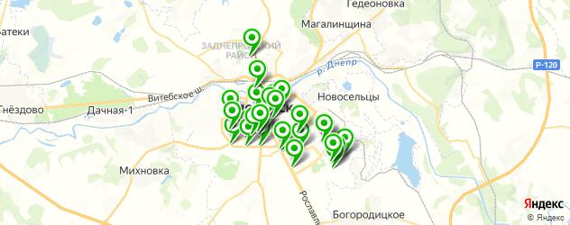 Доставка роллов на карте Смоленска