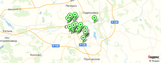 детские клубы на карте Смоленска