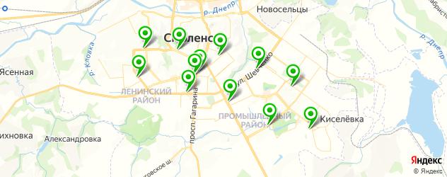 Доставка шашлыка на карте Смоленска
