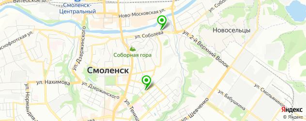 пекарни на карте Смоленска