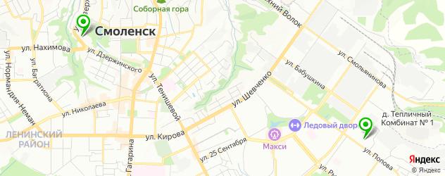 стадионы на карте Смоленска
