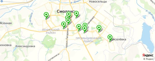 тату салон на карте Смоленска
