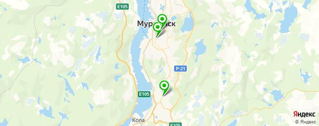 театры на карте Мурманска