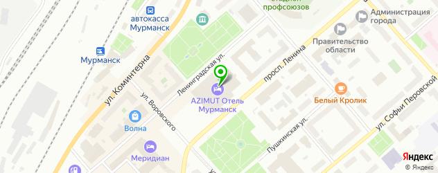 рестораны европейской кухни на карте Мурманска