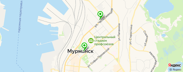 Доставка еды на карте Мурманска