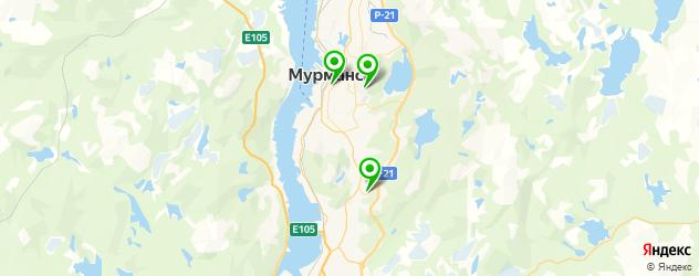 рестораны на карте Мурманска